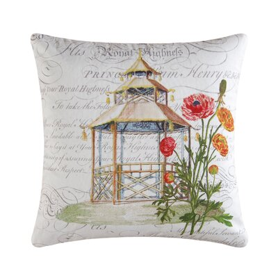 Garden Folly Accent Cotton Throw Pillow