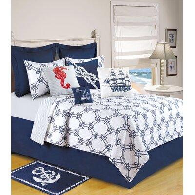 Sail Away Linen Accent Cotton Throw Pillow (Set of 2)
