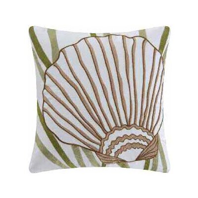 Shell Accent Cotton Throw Pillow