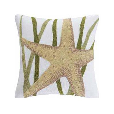 Starfish Accent Cotton Throw Pillow