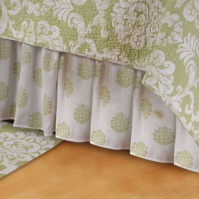Berthold Bed Skirt Size: Queen, Color: Cucumber