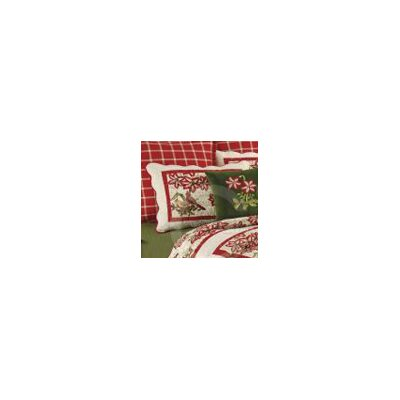 Christmas Collage Cotton Sham Size: Euro