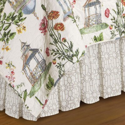 Garden Folly Cotton Bed Skirt Size: King