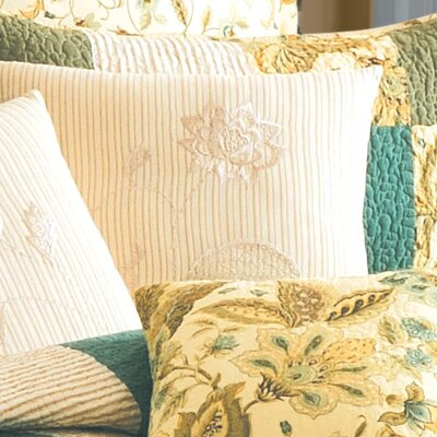 Delaney Embroidery Cotton Throw Pillow