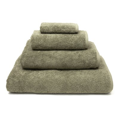 100% Turkish Cotton Soft Twist 4 Piece Towel Set Color: Light Olive