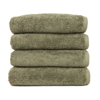 Soft Twist 100% Turkish Cotton Hand Towel Color: Light Olive