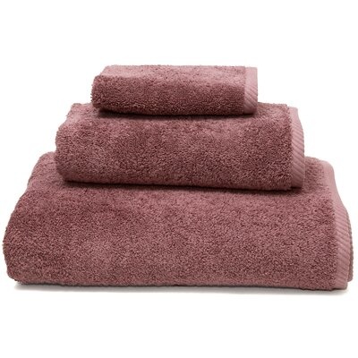 Soft Twist 100% Turkish Cotton 3 Piece Towel Set Color: Sugar Plum
