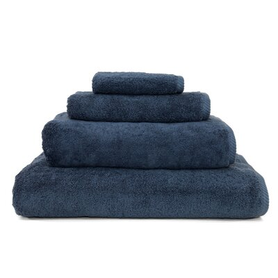 100% Turkish Cotton Soft Twist 4 Piece Towel Set Color: Midnight Blue