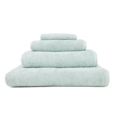 100% Turkish Cotton Soft Twist 4 Piece Towel Set Color: Soft Aqua
