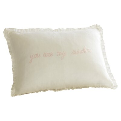 You are My Sunshine Linen Boudoir Pillow Color: Pink
