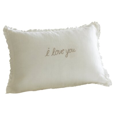 I Love You Linen Boudoir Pillow Color: Natural