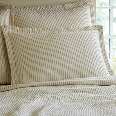 Hudson Cotton Sham Size: Euro, Color: Cream