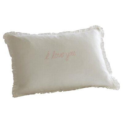 I Love You Linen Boudoir Pillow Color: Pink