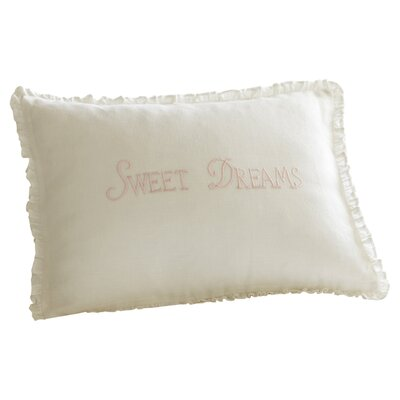 Sweet Dreams Linen Lumbar Pillow Color: Pink