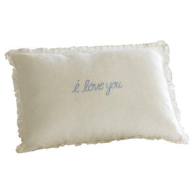 I Love You Linen Boudoir Pillow Color: Blue