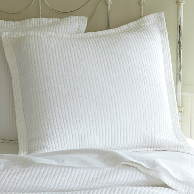 Hudson Cotton Sham Size: Euro, Color: White