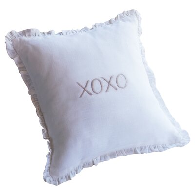 XOXO Toss Linen Throw Pillow