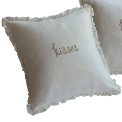 Kisses Toss Linen Throw Pillow
