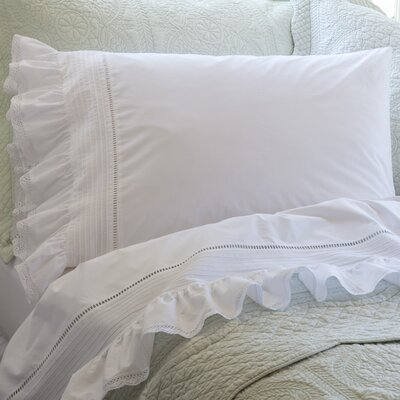 Prairie Crochet Cotton Pillowcase Size: King