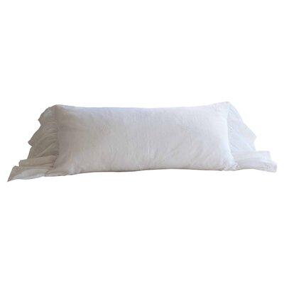 Daisy Dot Cotton Lumbar Pillow Color: White