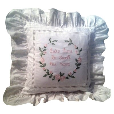 Take Time Toss Cotton Throw Pillow