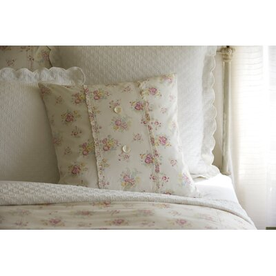 Clovelly Porch Cotton Throw Pillow