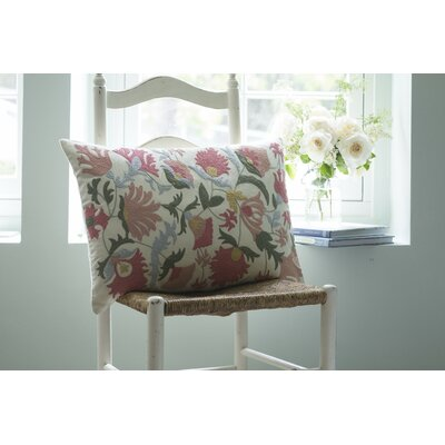 Mauna Lani Embroidered Cotton Lumbar Pillow