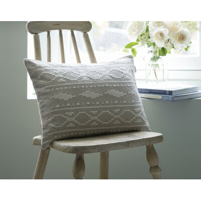 Britten Embroidered Linen Boudoir Pillow Color: Natural