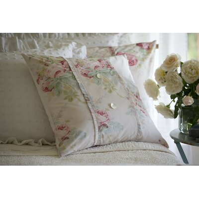 Shore Rose Petal Porch Cotton Throw Pillow