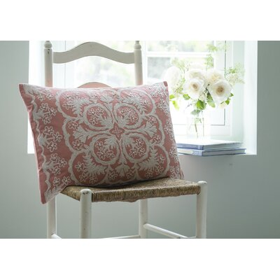 Waikoloa Embroidered Cotton Lumbar Pillow