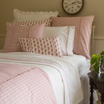 Eloise Duvet Color: Red, Size: Twin