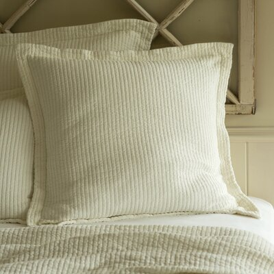 Hudson Sham Size: Standard, Color: Cream