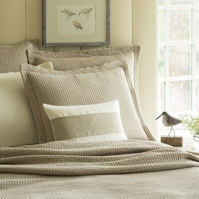 Hudson Matelasse Quilt Size: Twin, Color: Natural Matelasse