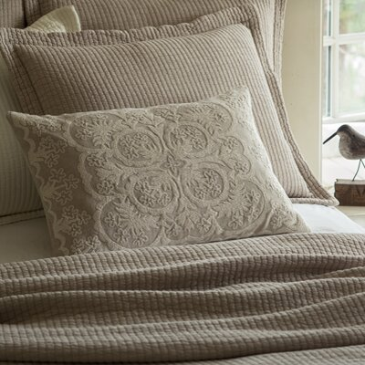 Waikoloa Embroidered Lumbar Pillow Color: Natural