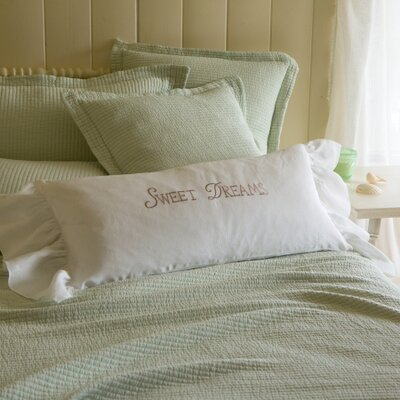 Sweet Dreams Linen Bolster Pillow Color: Natural