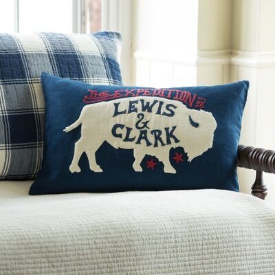 Lewis and Clark Cotton Throw Pillow