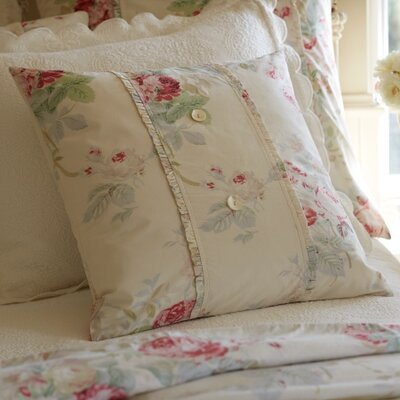 Shore Rose Porch Cotton Throw Pillow