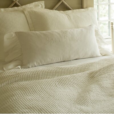 Sweet Dreams Linen Bolster Pillow Color: White