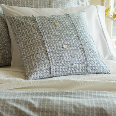 Eloise Porch Cotton Throw Pillow Color: Indigo