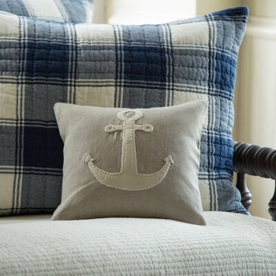 Anchor Toss Linen Throw Pillow Color: Natural