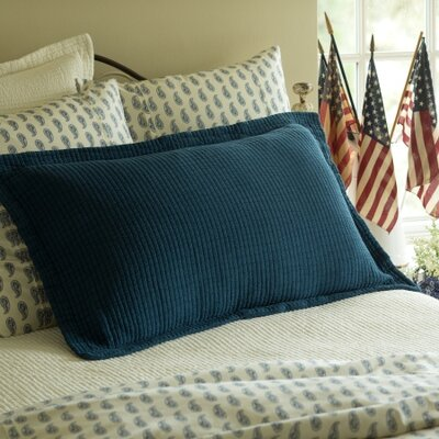 Hudson Sham Size: King, Color: Indigo