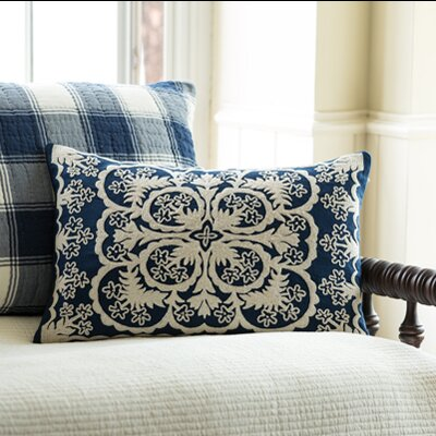 Waikoloa Embroidered Lumbar Pillow Color: Indigo