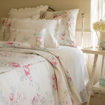 Shore Rose Duvet Size: Queen