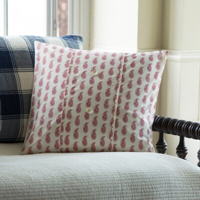 Paisley Porch Throw Pillow Color: Red