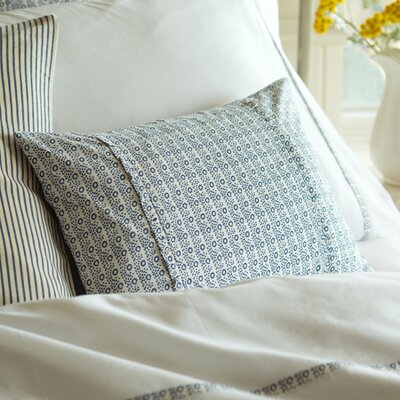 Eloise Cotton Boudoir Pillow Color: Indigo
