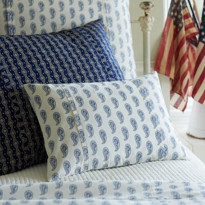 Paisley Boudoir Pillow Color: Indigo