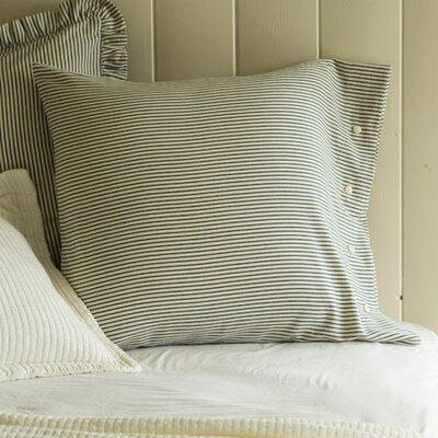 Camden Stripe Pillowcase Size: Euro
