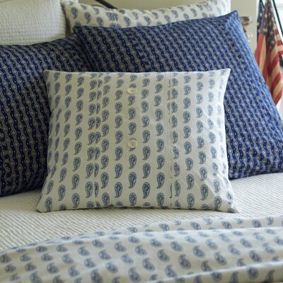 Paisley Porch Throw Pillow Color: Indigo