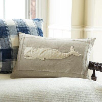 Whale Linen Lumbar Pillow Color: Natural