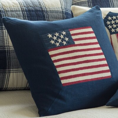 Flag Porch Linen Throw Pillow